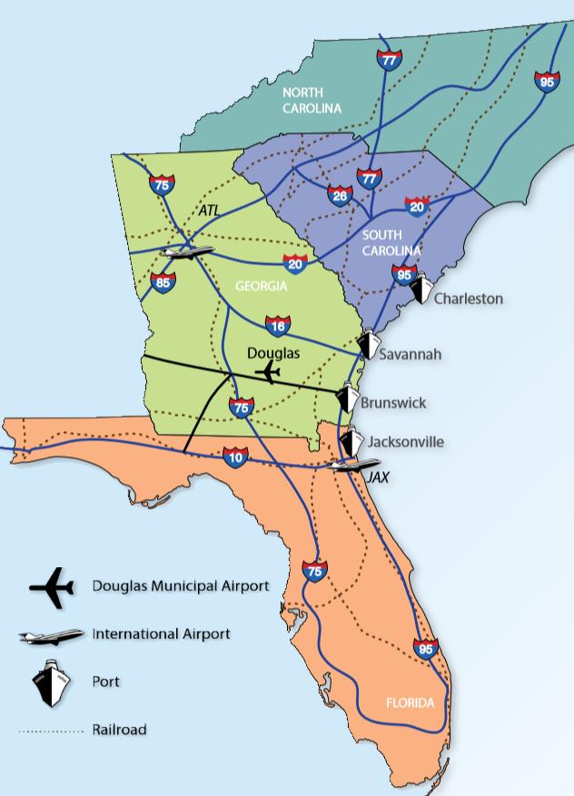 Southeast Regional Map